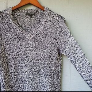 Banana Republic Marled Knit V Neck Sweater